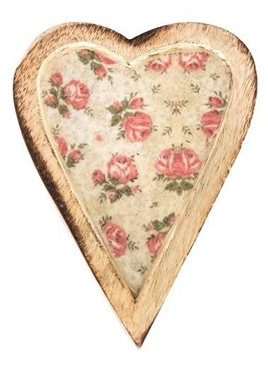 Vitale Dekoratif Kalp Orta Boy Krem